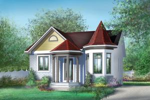 Cottage Exterior - Front Elevation Plan #25-1226