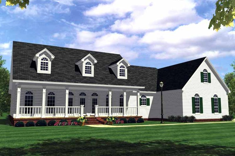 Country Exterior - Front Elevation Plan #21-416 - Houseplans.com