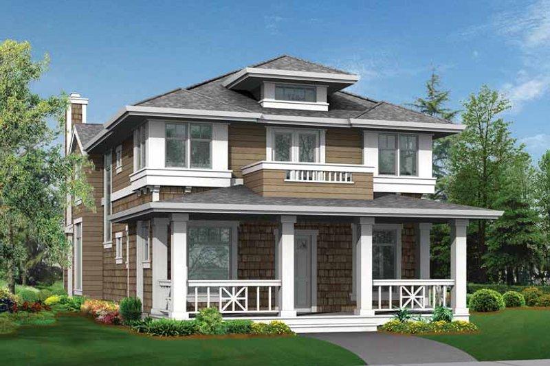Craftsman Exterior - Front Elevation Plan #132-322 - Houseplans.com