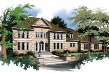 Home Plan - Classical Exterior - Front Elevation Plan #952-76