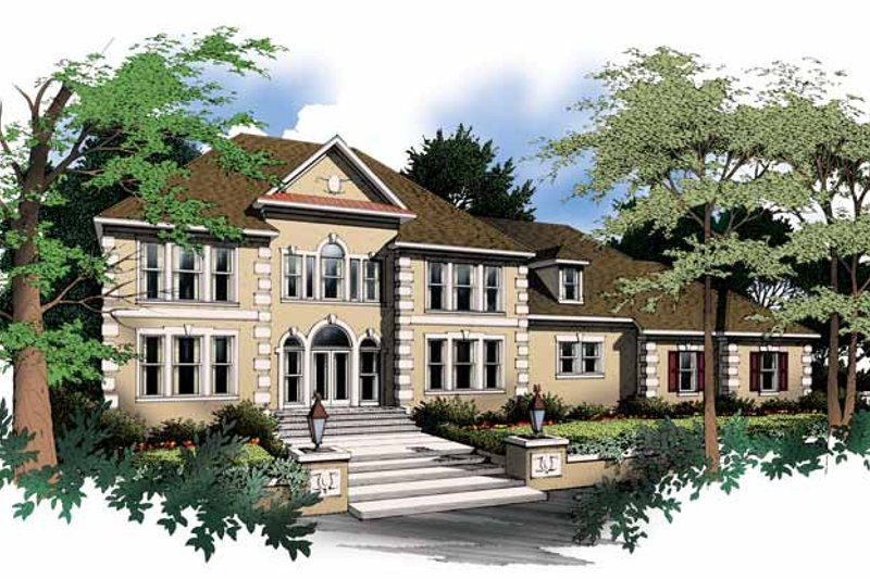 Classical Exterior - Front Elevation Plan #952-76