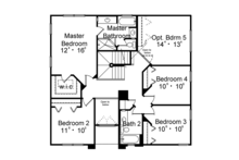 Mediterranean Floor Plan - Upper Floor Plan Plan #417-834