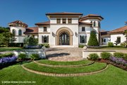 European Style House Plan - 4 Beds 4.5 Baths 6299 Sq/Ft Plan #930-510 Exterior - Front Elevation