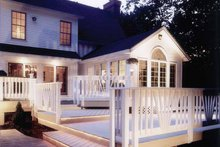 Home Plan - Country Exterior - Rear Elevation Plan #1016-93