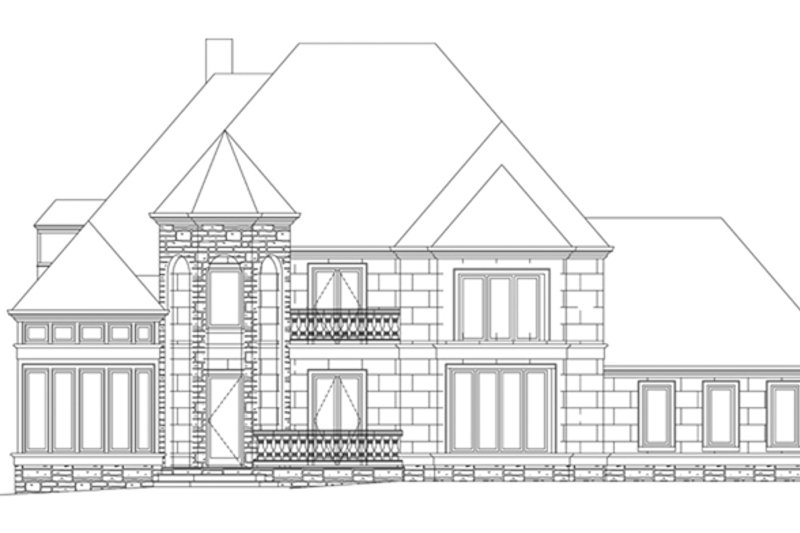 House Plan Design - European Exterior - Front Elevation Plan #119-417