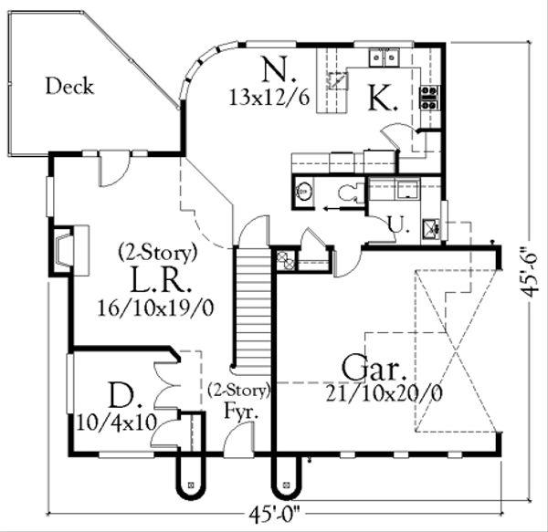 Cottage Floor Plan - Main Floor Plan Plan #509-10