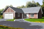 Traditional Style House Plan - 3 Beds 2 Baths 1066 Sq/Ft Plan #1-1047 Exterior - Front Elevation