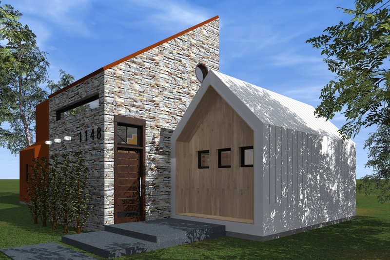 Modern Style House Plan - 3 Beds 3.5 Baths 1715 Sq/Ft Plan #933-6 Exterior - Front Elevation