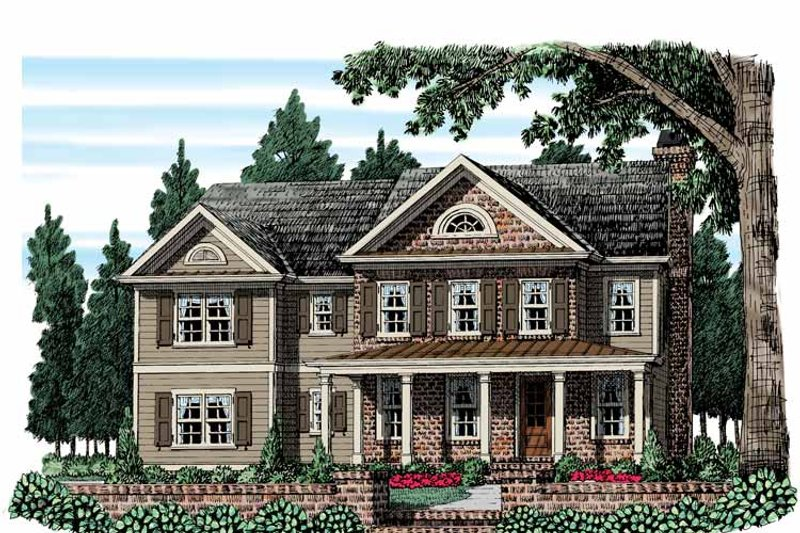 Country Exterior - Front Elevation Plan #927-952 - Houseplans.com