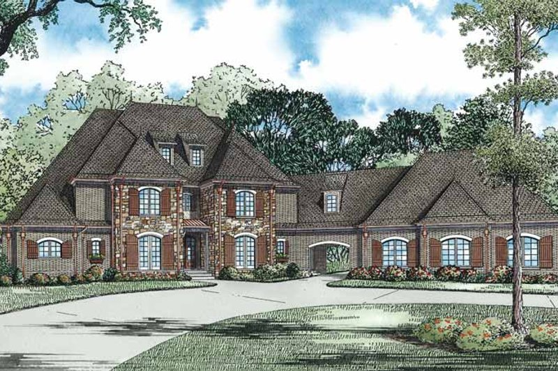 Dream House Plan - European Exterior - Front Elevation Plan #17-3339