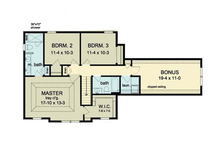 Colonial Floor Plan - Upper Floor Plan Plan #1010-33