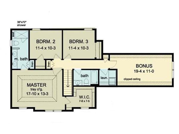 Dream House Plan - Colonial Floor Plan - Upper Floor Plan #1010-33