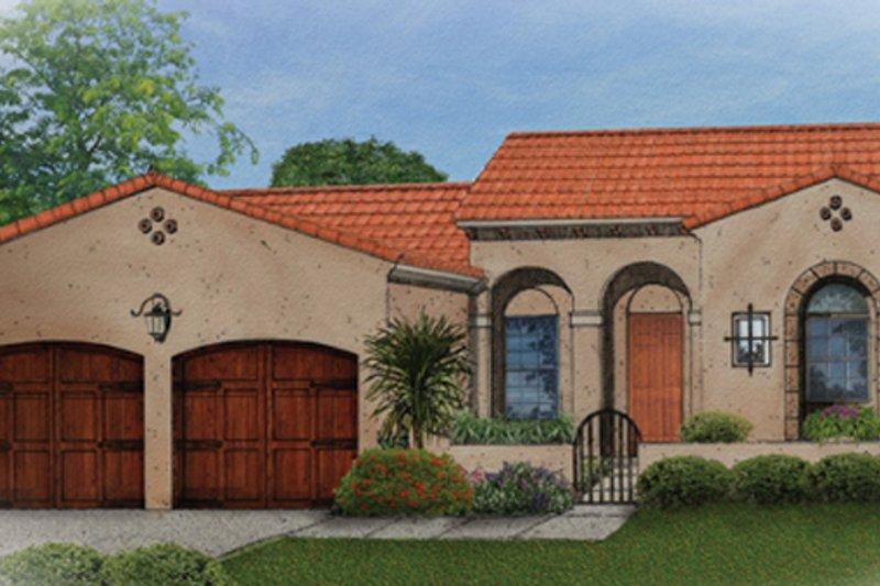 House Plan Design - Mediterranean Exterior - Front Elevation Plan #1058-5