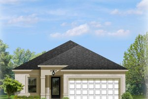 Dream House Plan - Mediterranean Exterior - Front Elevation Plan #1058-89