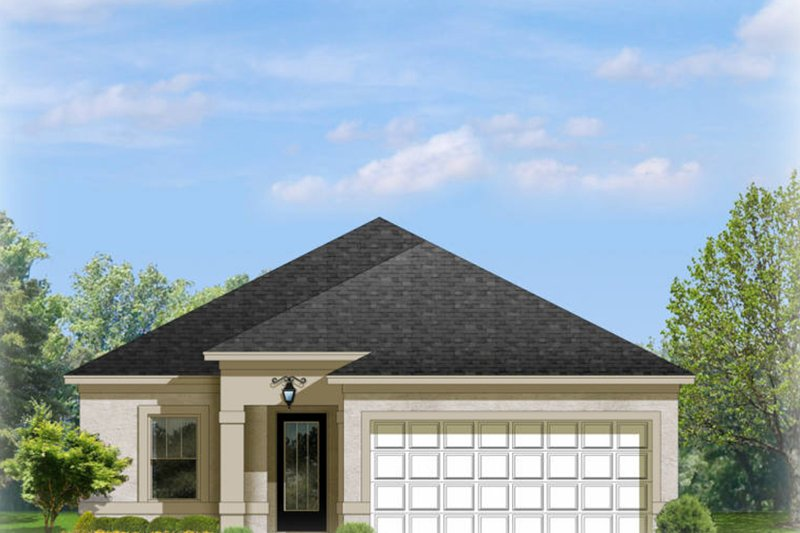 Mediterranean Exterior - Front Elevation Plan #1058-89 - Houseplans.com