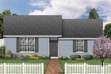 Home Plan - Classical Exterior - Front Elevation Plan #84-772