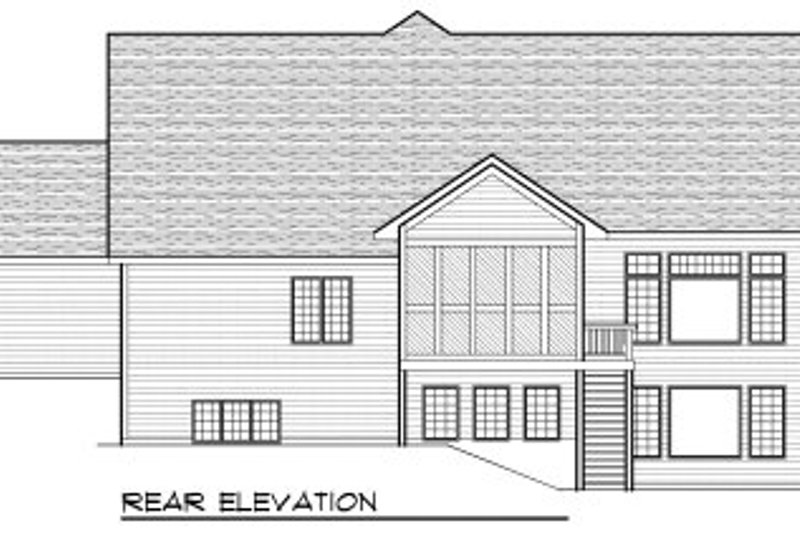 Traditional Exterior - Rear Elevation Plan #70-814 - Houseplans.com