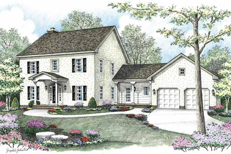 Country Exterior - Front Elevation Plan #1002-1 - Houseplans.com