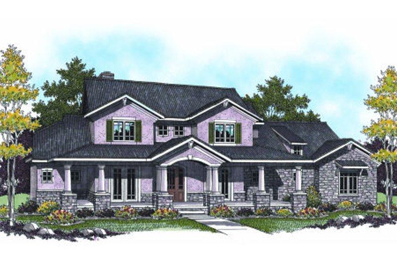 Bungalow Exterior - Front Elevation Plan #70-955 - Houseplans.com