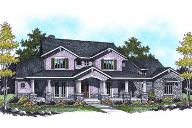 Dream House Plan - Bungalow Exterior - Front Elevation Plan #70-955