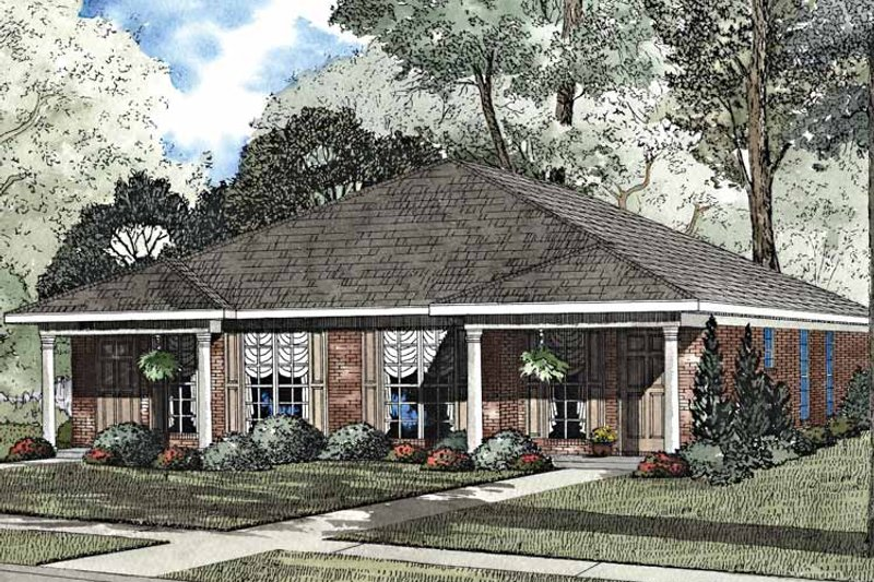 Classical Exterior - Front Elevation Plan #17-3155 - Houseplans.com