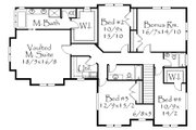 Country Style House Plan - 4 Beds 3.5 Baths 3931 Sq/Ft Plan #509-30 Floor Plan - Upper Floor Plan