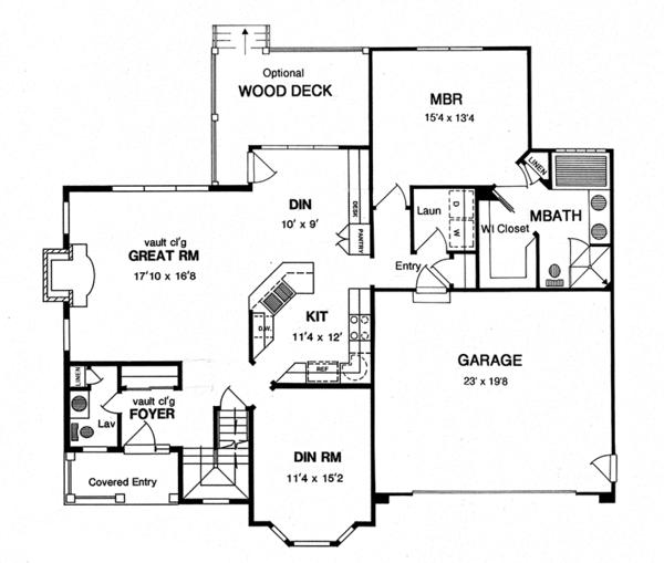 Traditional Floor Plan - Main Floor Plan Plan #316-292