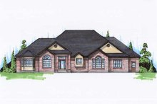 Dream House Plan - Traditional Exterior - Front Elevation Plan #5-167