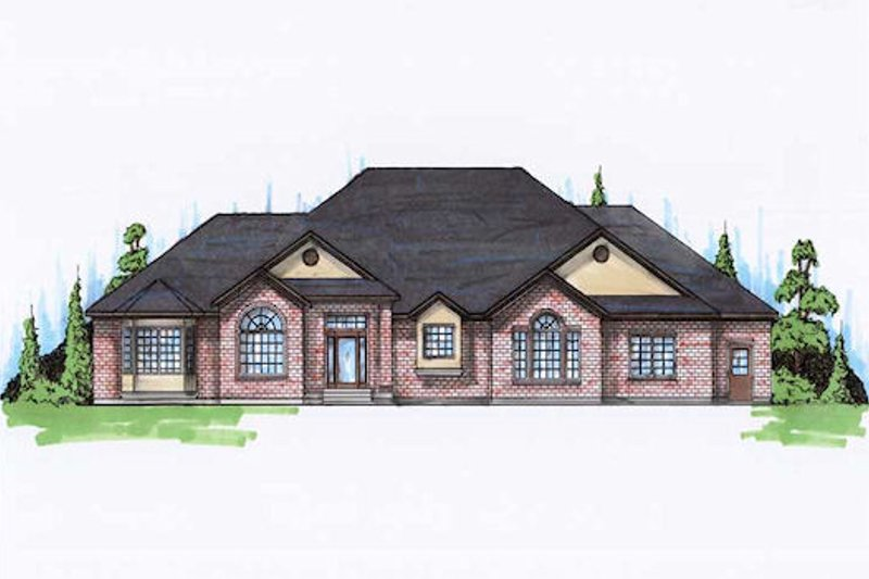 Traditional Exterior - Front Elevation Plan #5-167