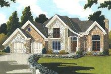 Home Plan - European Exterior - Front Elevation Plan #46-849
