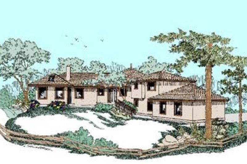 Traditional Exterior - Front Elevation Plan #60-372 - Houseplans.com