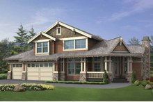 Dream House Plan - Craftsman Exterior - Front Elevation Plan #132-392