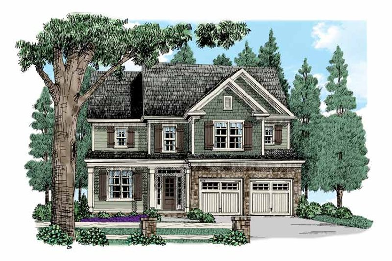 Traditional Exterior - Front Elevation Plan #927-524 - Houseplans.com