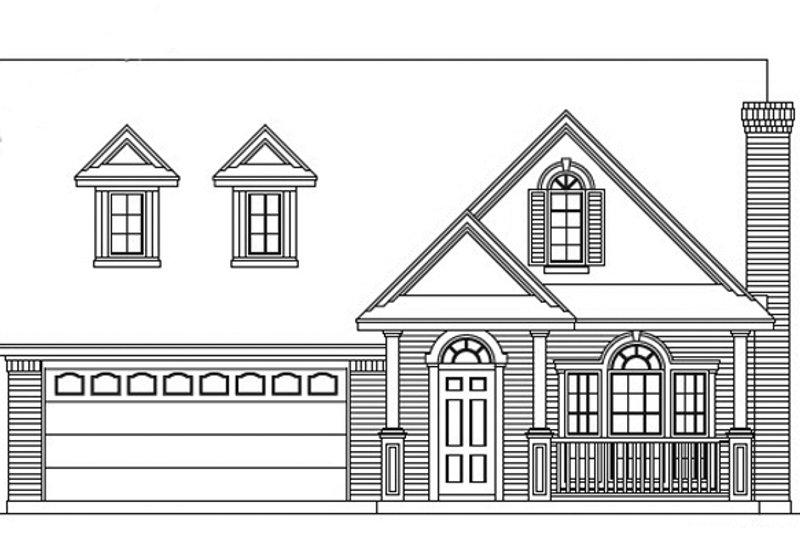 Exterior - Front Elevation Plan #472-71 - Houseplans.com