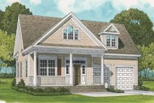 Home Plan - Country Exterior - Front Elevation Plan #413-894