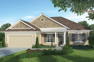 Architectural House Design - Country Exterior - Front Elevation Plan #938-31