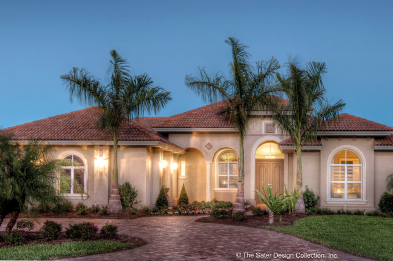 Mediterranean Exterior - Front Elevation Plan #930-448 - Houseplans.com