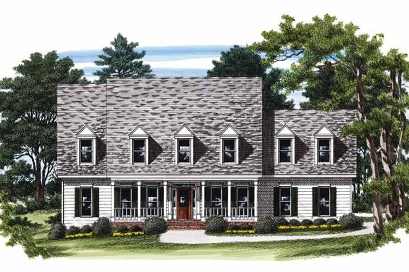 Country Exterior - Front Elevation Plan #927-251