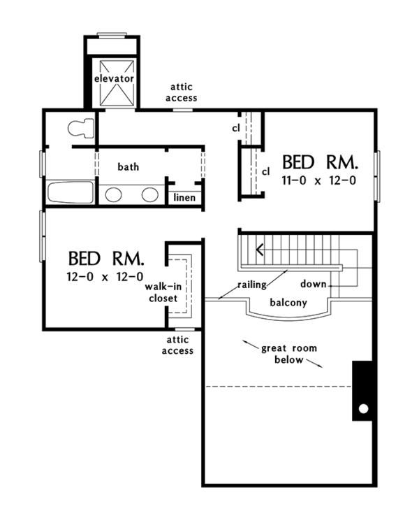 Craftsman Floor Plan - Upper Floor Plan Plan #929-986