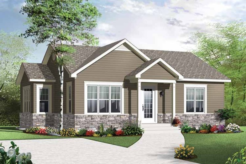 Dream House Plan - Traditional Exterior - Front Elevation Plan #23-2520