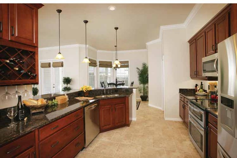 Mediterranean Interior - Kitchen Plan #938-20 - Houseplans.com