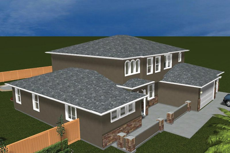 Mediterranean Exterior - Other Elevation Plan #1060-29 - Houseplans.com