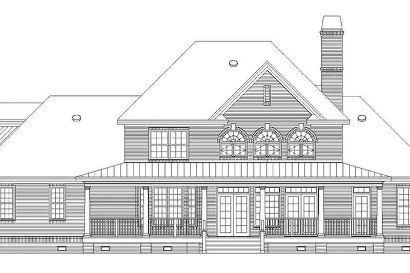 Country Exterior - Rear Elevation Plan #929-886 - Houseplans.com