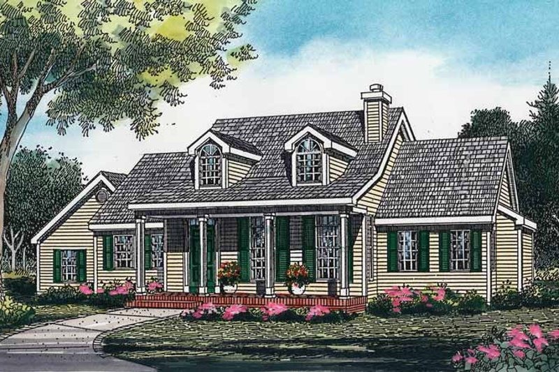 Country Exterior - Front Elevation Plan #456-55 - Houseplans.com