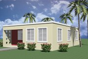 Modern Style House Plan - 3 Beds 1 Baths 974 Sq/Ft Plan #495-3 Exterior - Other Elevation