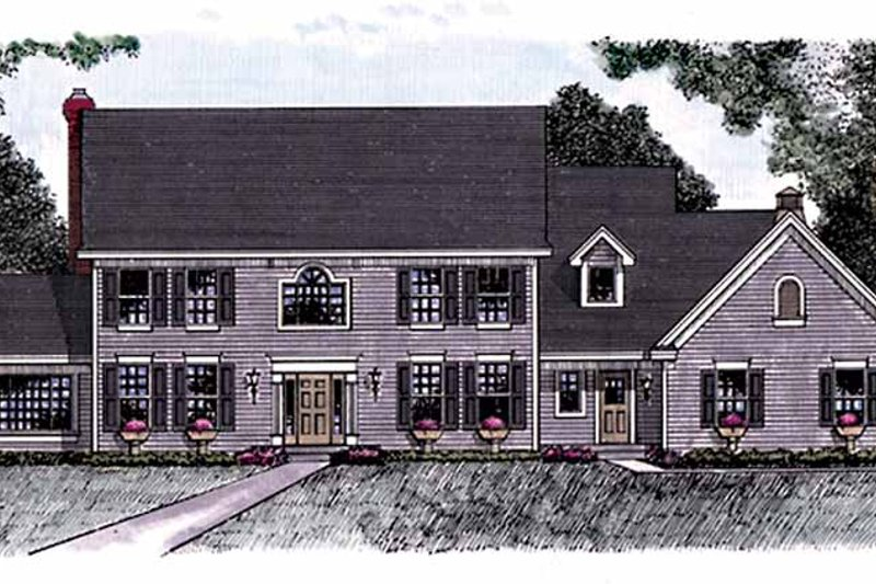Dream House Plan - Classical Exterior - Front Elevation Plan #51-957