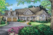 Craftsman Style House Plan - 4 Beds 3 Baths 2857 Sq/Ft Plan #929-887 Exterior - Front Elevation