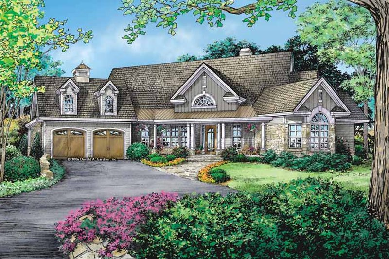 Dream House Plan - Craftsman Exterior - Front Elevation Plan #929-887
