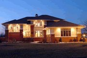 Prairie Style House Plan - 4 Beds 2.5 Baths 2576 Sq/Ft Plan #20-217 Exterior - Other Elevation