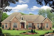 European Style House Plan - 3 Beds 2.5 Baths 2350 Sq/Ft Plan #21-223 Exterior - Front Elevation
